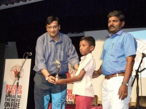 A young fire champion - Jayakumar from Sivakashi