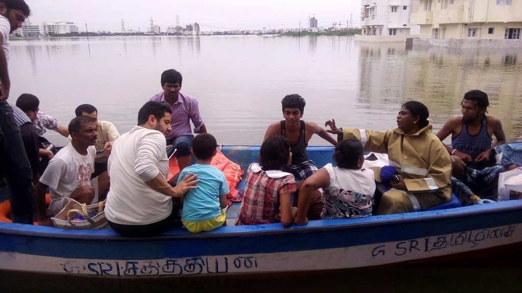 Meenakshi in Chennai Mega-floods rescue