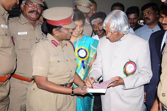 Meenakshi with APJ Abdul Kalam